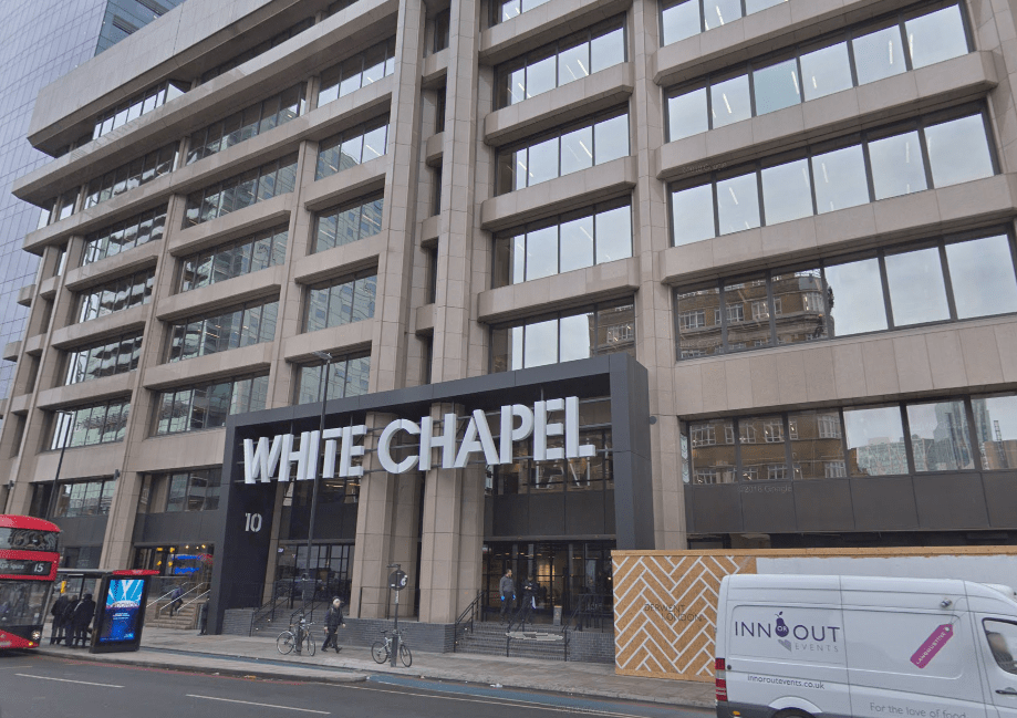 The White Chapel Building in Whitechapel